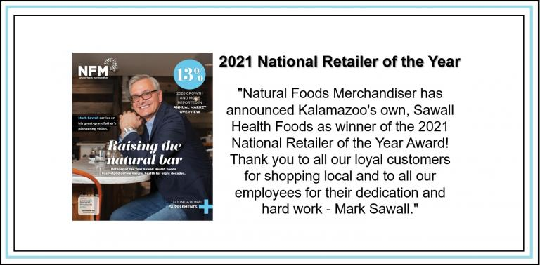 Sawall 2021 Retailer of the Year